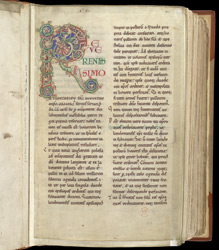 Inhabited Initial, In A Collection Of Copies Of Papal Letters To English Kings And Bishops